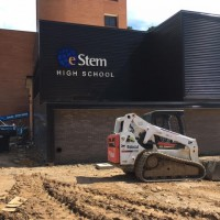 e-Stem Larson Hall High School, eco Construction, business park