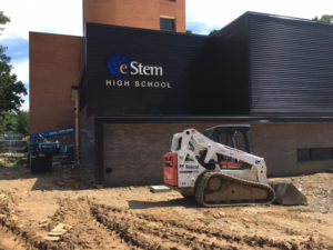 e-Stem Larson Hall High School, eco Construction